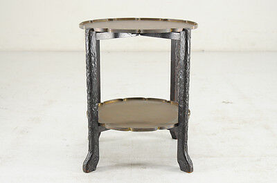 China Antique Brass-Carving Side Table with Folding Legs Free Shipping 716y04