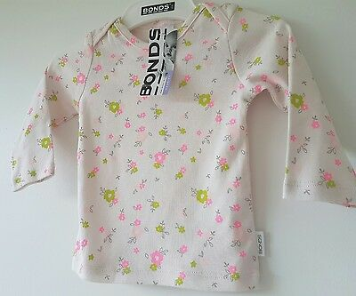 BNWT Size 00 BONDS Baby Newbies Long Sleeve Floral Tshirt Top