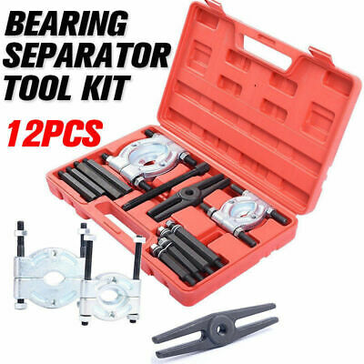 12pcs Bearing Splitter Gear Puller Fly Wheel with Box Separator Set Tool Kit AU