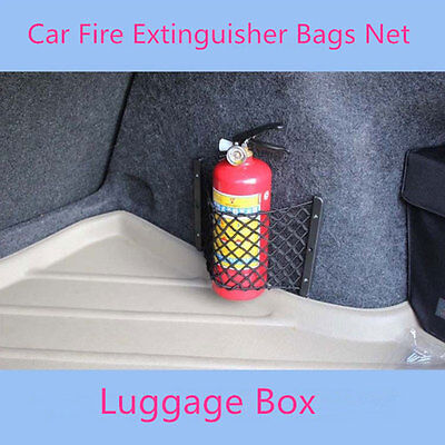 Universal General Car Fire Extinguisher Bags Storage Net Luggage Pocket