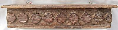 Original Carved Wooden Shelf from India. Distressed. Reclaimed.