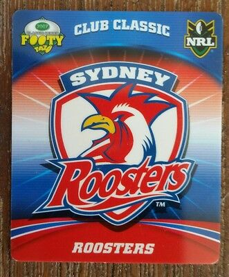 "Smiths 2007 NRL footy tazos Roosters ""Club Classic"" card"