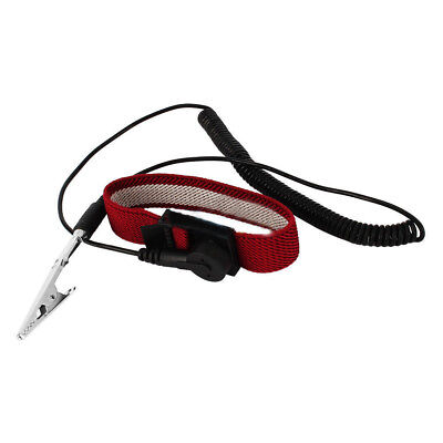 Wine Red Electronic AntiStatic ESD Adjustable Wrist Strap Discharge Bracelet