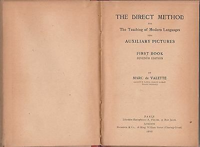 M. De Valette The direct method for the teaching of modern languages 1919 L5584
