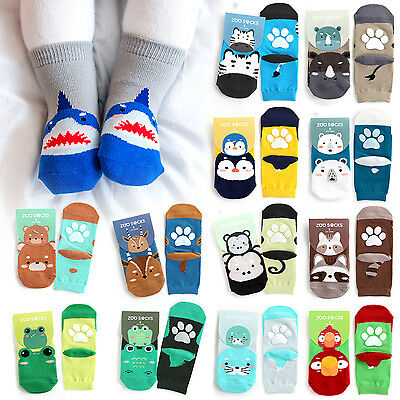 "Vaenait Baby Kids Toddler Clothes Non Slip Skid Socks ""Boys Zoo Socks"" 0M-8T"