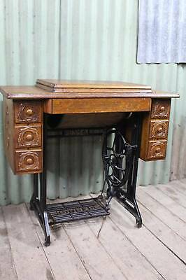 An Antique Singer Treadle Sewing Machine