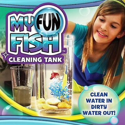 Self Cleaning Aquarium, My Fun FISH TANK Complete Kit with Light-Gravity Clean**