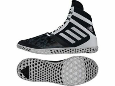 Adidas Wrestling Flying Impact Boots Shoes Black - AQ3317