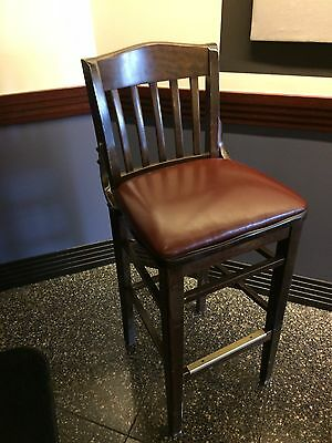 """Commercial School house style Wood Frame  Bar Stools Chairs 30"""" seat ht"""