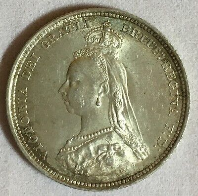 Great Britain 1887 Shilling Silver Coin