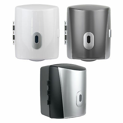 Centre Feed Paper Towel Dispenser Wall Mounted Loo Lockable Blue Roll Dispensers