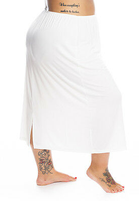 19: Plus Size half slip for large hips -  5 sizes up to UK40/42 in 3 lengths.
