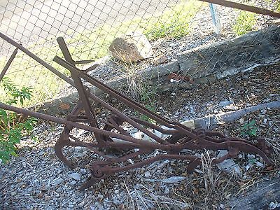 Old horse drawn hand plough ideal garden ornament