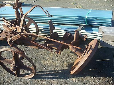 horse drawn old plough ideal garden feature