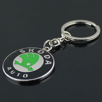 3D Metal Skoda Car Logo Keyring Keychain Pendant Car Key Holder AS A Gift