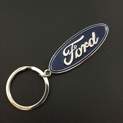 3D Metal Ford Car Logo Keyring Keychain Pendant Car Key Holder AS A Gift