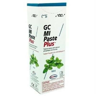 Gc Mi Paste Plus Mint Topical Tooth Cream With Recaldent 1 Tube Of 40 Gm