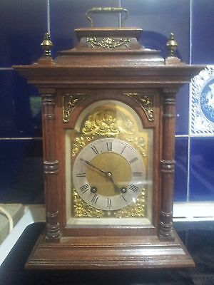 Lenskirch Oak Cased Striking Bracket Clock