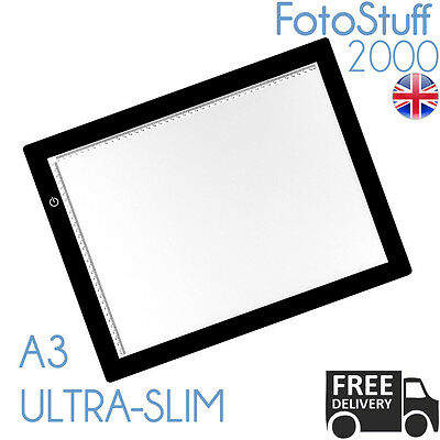 A3 LED Ultra Slim Light Box Dimmable Photographic 5600K Light Panel