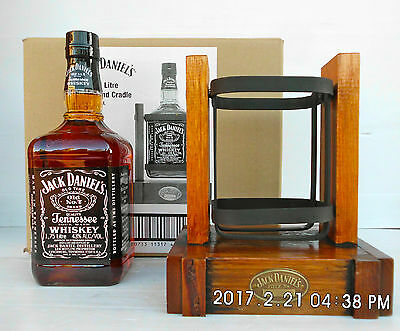 Jack Daniels 1.75 Litre Cradle With Bottle -This Is The Very FIRST Produced!!!!!