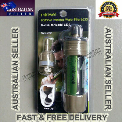 Miniwell Water Filter Purification Survival Straw Life Camping Travel Hiking 630