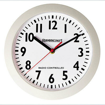 Easy To See Atomic Wall Clock - White