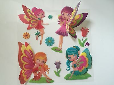 3D Removable Angel Wing Fairy Art Decor Wall Sticker Kids Room/ Decals for girl