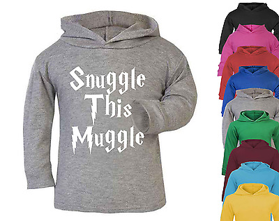 Snuggle this Muggle Harry Potter Inspired Baby Hoodie Jumper Cotton Baby Gift
