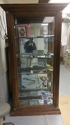 Antique Cabinet With Glass Shelving