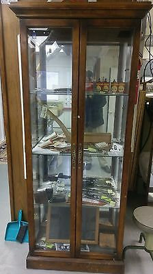 Lovely Antique Cabinet With Glass Shelving