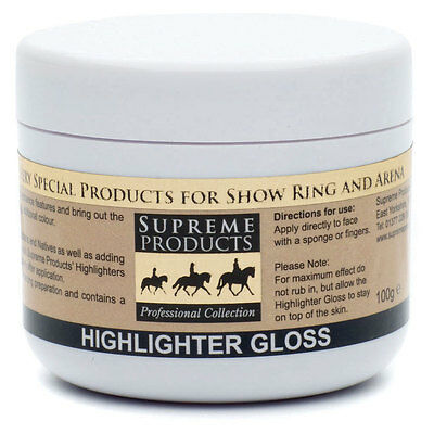 Supreme Products HIGHLIGHTER GLOSS Horse Pony Make Up High Shine 100g