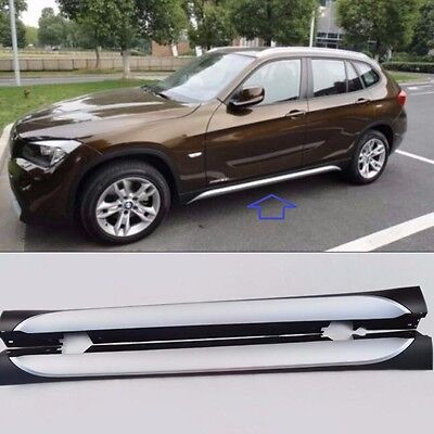 ABS Plastic Side Skirt Nerf Bar Step Protection Fit for BMW X1 E84 2010-2015