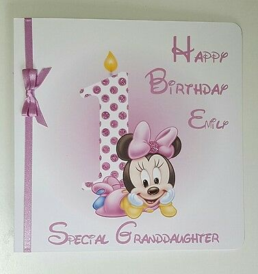 1st Birthday Card Daughter Granddaughter Niece Personalised Custom