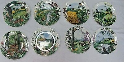 Full Set of 8 Wedgwood Fine Bone China Country Panorama by Colin Newman. VGC