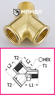 Brass Adapter Fitting Y type Street Tee 1/4 BSP Male to 1/4 BSP Female (50 pcs)