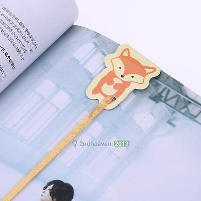 Lovely Fox Bookmark Paper Clip Bookmark School Office Books Supply Novelty