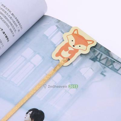 Lovely Fox Magnetic Bookmark Paper Clip Bookmark School Office Supply Novelty