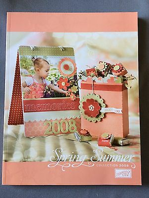 2008 Spring Summer Collection Stampin Up Idea Book and Catalog - New Unused