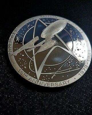 Sterling Silver Star Trek The Motion Picture 15 Year Anniversary Coin
