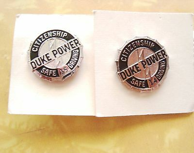 Two Vintage DUKE POWER 14 year & 15 year  safe driving awards never worn