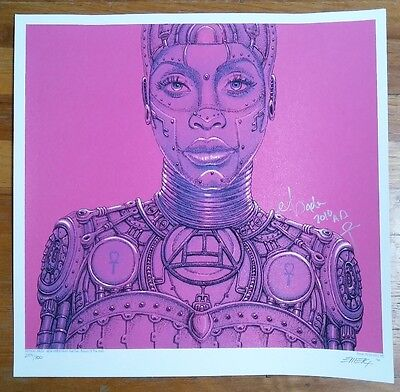 RARE limited edition Erykah Badu poster, SIGNED and numbered