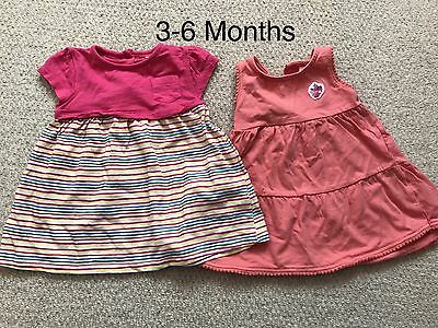 Baby Girl Dresses X 2 - 3-6 Months