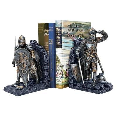 ARTHURIAN KNIGHT BOOKENDS DESIGN TOSCANO Arthurian Knight Bookends  Bookend