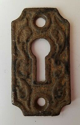 mixed lot of 3 old antique Escutcheons Key hole Covers ornate cast door hardware