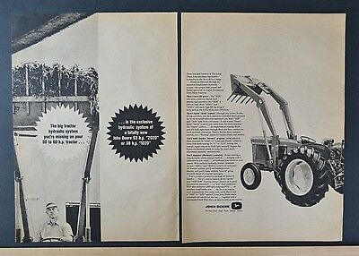 1966 John Deere Tractor 2020 Hydraulic System 2 page  Newspaper Vintage Print Ad