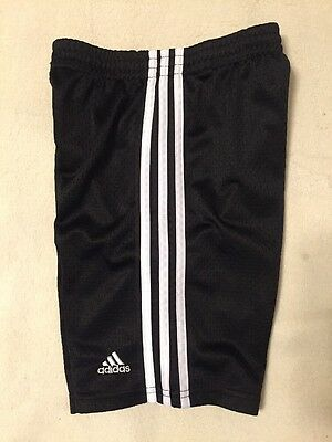 Adidas Boys Size 6 Athletic Sports Shorts Black & White