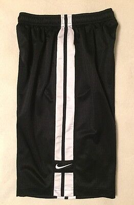 Nike Boys Size Large Sports Athletic Shorts Black With White