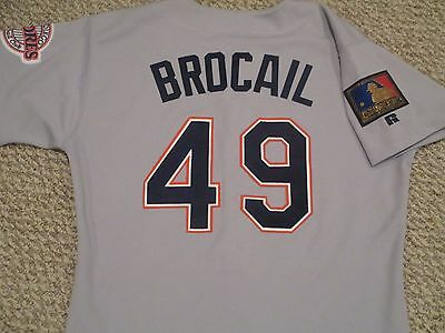 Doug Brocail #49 size 46 1994 San Diego Padres Game Used Jersey Road Gray 125th