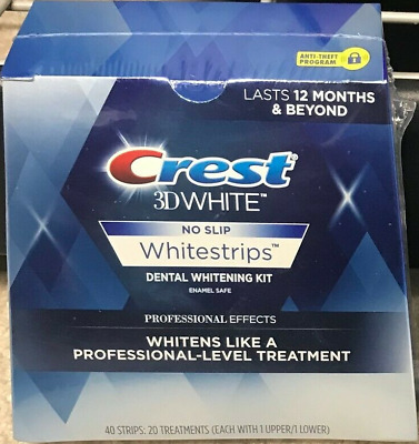 Crest No Slip 3d White Professional Effects Whitestrips Teeth