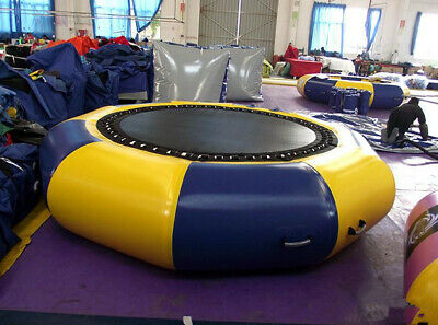 CE 3M 9.6' Diameter Inflatable Water Trampoline Bounce Swim Platform Lake Toy